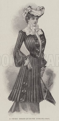A Smart Three-Quarter Length Coat. Illustration for The Illustrated London News, 29 March 1902.