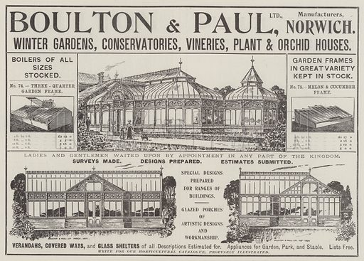 Advertisement, Boulton and Paul. Illustration for The Illustrated London News, 12 April 1902.