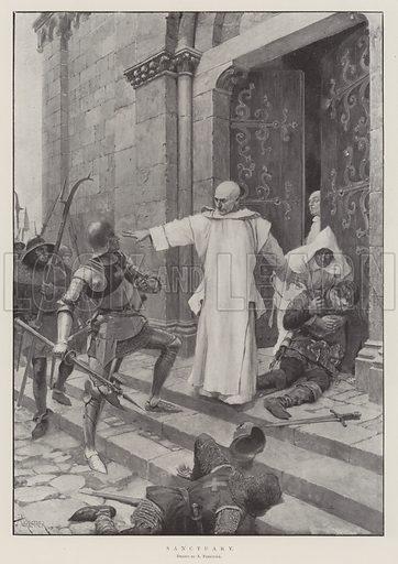 Sanctuary. Illustration for The Illustrated London News, 12 April 1902.