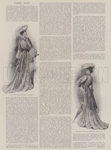 Ladies' Fashions. Illustration for The Illustrated London News, 17 May 1902.
