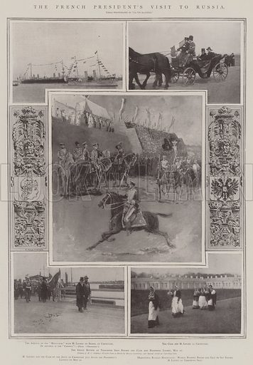 The French President's Visit to Russia. Illustration for The Illustrated London News, 31 May 1902.
