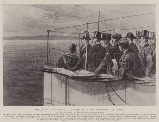 Throwing the Dart, a Triennial Civic Ceremony at Cork. Illustration for The Illustrated London News, 31 May 1902.