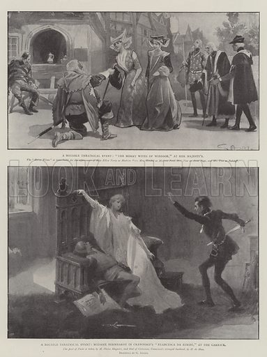 A Notable Theatrical Event. Illustration for The Illustrated London News, 14 June 1902.