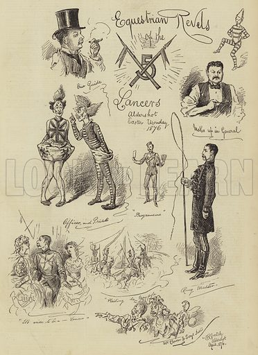 Equestrian Revels of the Lancers. Illustration for The Illustrated Sporting and Dramatic News, 22 April 1876.