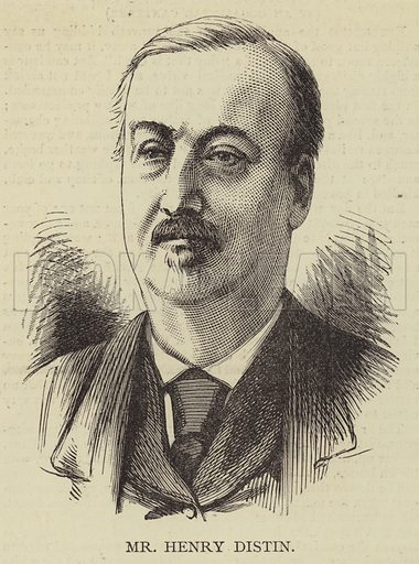Mr Henry Distin. Illustration for The Illustrated Sporting and Dramatic News, 3 June 1876.
