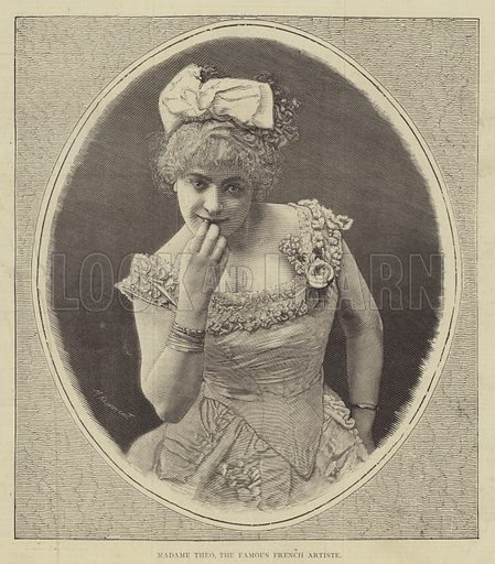 Madame Theo, the Famous French Artiste. Illustration for The Illustrated Sporting and Dramatic News, 15 July 1876.