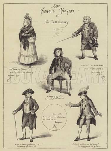 Some Famous Players of the Last Century. Illustration for The Illustrated Sporting and Dramatic News, 15 July 1876.