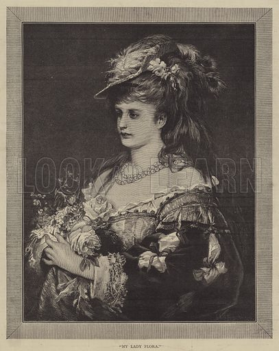 My Lady Flora. Illustration for The Illustrated Sporting and Dramatic News, 29 July 1876.