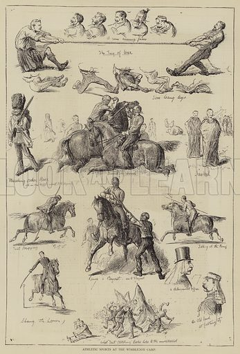 Athletic Sports at the Wimbledon Camp. Illustration for The Illustrated Sporting and Dramatic News, 29 July 1876.