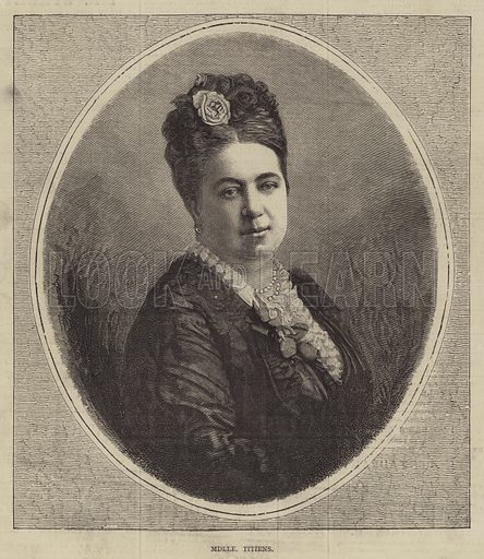 Mademoiselle Titiens. Illustration for The Illustrated Sporting and Dramatic News, 5 August 1876.
