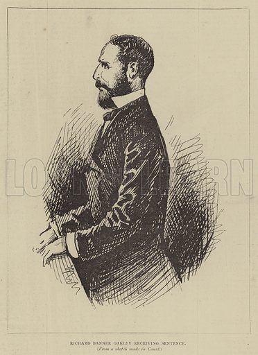 Richard Banner Oakley receiving Sentence. Illustration for The Illustrated Sporting and Dramatic News, 19 August 1876.