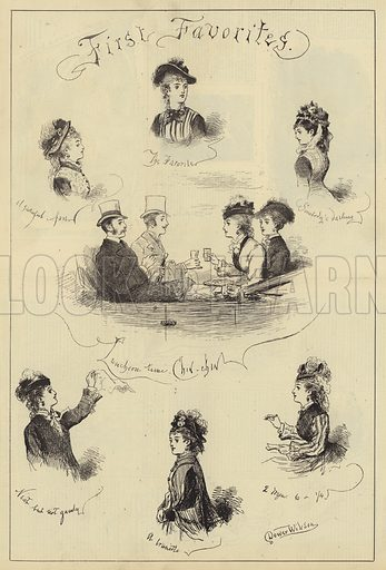 First Favorites. Illustration for The Illustrated Sporting and Dramatic News, 1 June 1876.