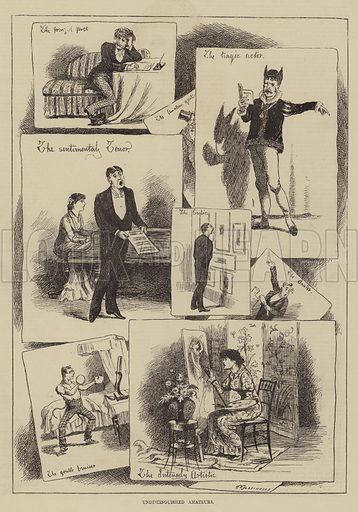 Undistinguished Amateurs. Illustration for The Illustrated Sporting and Dramatic News, 25 September 1880.