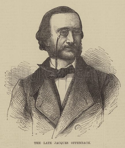 The late Jacques Offenbach. Illustration for The Illustrated Sporting and Dramatic News, 9 October 1880.