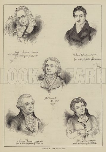 Famous Players of the Past. Illustration for The Illustrated Sporting and Dramatic News, 30 October 1880.
