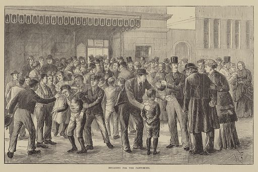Engaging for the Pantomime. Illustration for The Illustrated Sporting and Dramatic News, 13 November 1880.