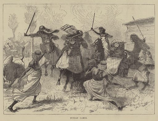 Nubian Games. Illustration for The Illustrated Sporting and Dramatic News, 13 November 1880.