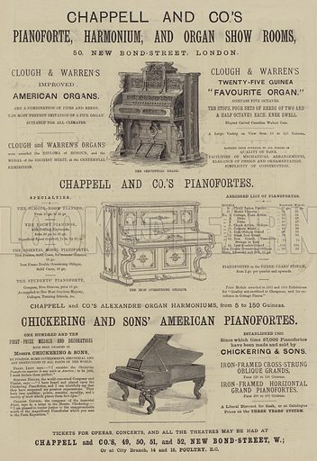 Advertisement for Chappel and Company. Illustration for The Illustrated Sporting and Dramatic News, 11 December 1880.