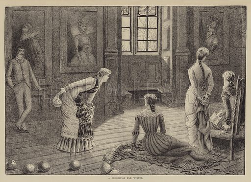A Suggestion for Winter. Illustration for The Illustrated Sporting and Dramatic News, 25 December 1880.
