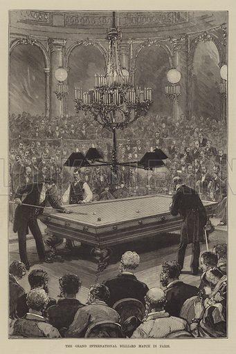The Grand International Billiard Match in Paris