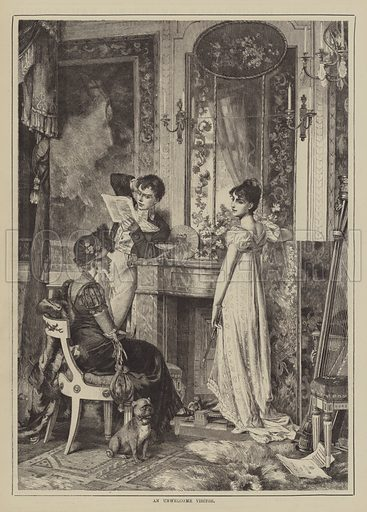 An Unwelcome Visitor. Illustration for The Illustrated Sporting and Dramatic News, 8 January 1881.