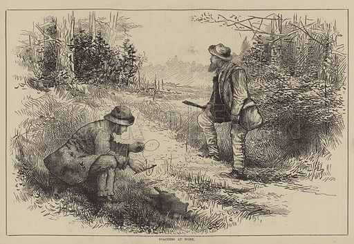 Poachers at Work. Illustration for The Illustrated Sporting and Dramatic News, 22 January 1881.