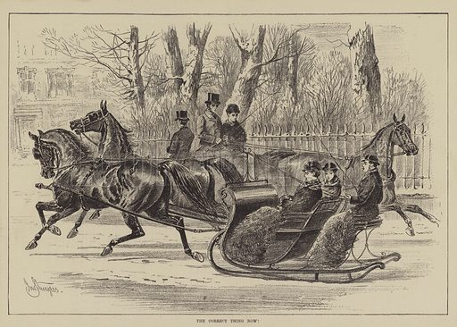 The Correct Thing Now! Illustration for The Illustrated Sporting and Dramatic News, 29 January 1881.