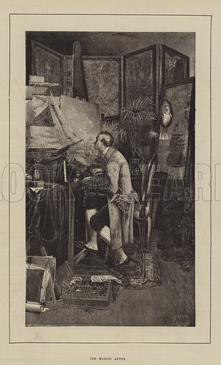 The Marine Artist. Illustration for The Illustrated Sporting and Dramatic News, 5 February 1881.