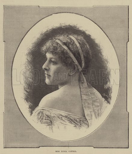 Miss Lydia Cowell. Illustration for The Illustrated Sporting and Dramatic News, 12 February 1881.