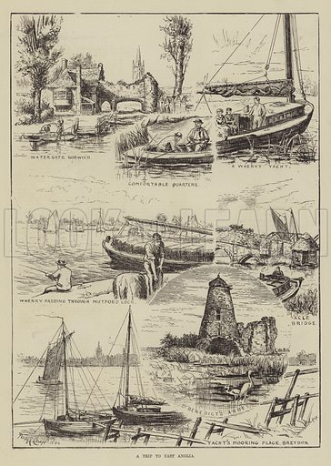 A Trip to East Anglia. Illustration for The Illustrated Sporting and Dramatic News, 7 June 1884.