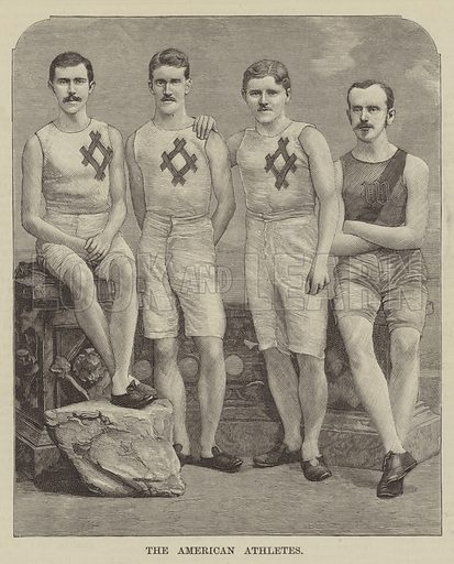 The American Athletes. Illustration for The Illustrated Sporting and Dramatic News, 21 June 1884.