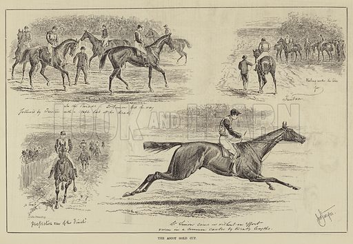 The Ascot Gold Cup. Illustration for The Illustrated Sporting and Dramatic News, 21 June 1884.