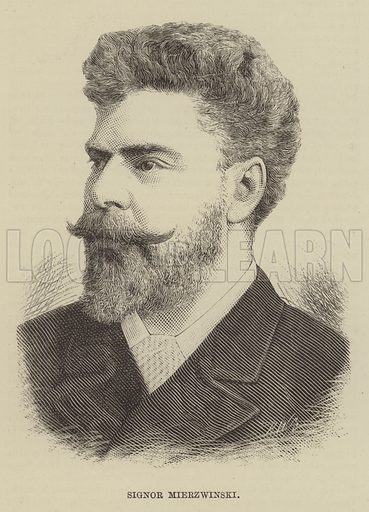 Signor Mierzwinski. Illustration for The Illustrated Sporting and Dramatic News, 28 June 1884.