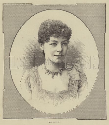 Miss Amalia. Illustration for The Illustrated Sporting and Dramatic News, 5 July 1884.