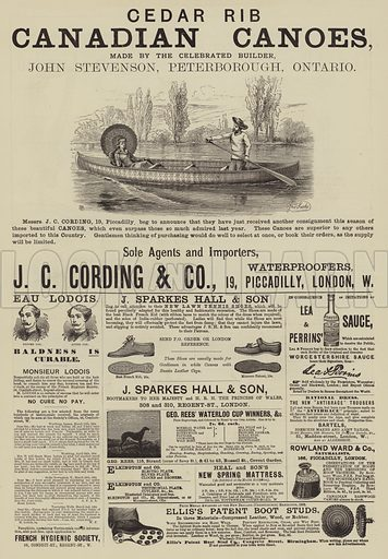 Page of Advertisements. Illustration for The Illustrated Sporting and Dramatic News, 12 July 1884.