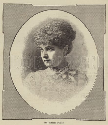 Miss Isabella Evisson. Illustration for The Illustrated Sporting and Dramatic News, 9 August 1884.