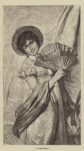 Flirtation. Illustration for The Illustrated Sporting and Dramatic News, 23 August 1884.