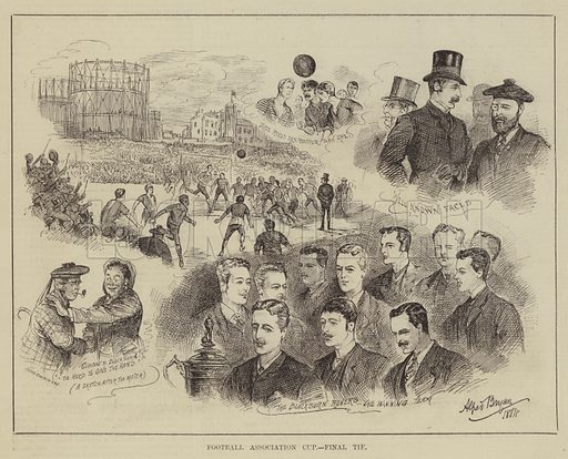 Football Association Cup, Final Tie. Illustration for The Illustrated Sporting and Dramatic News, 5 April 1884.