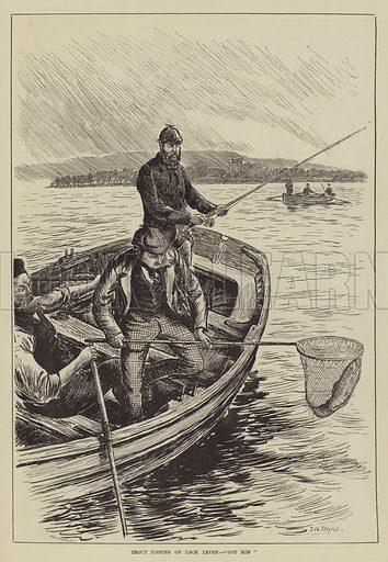 "Trout Fishing on Loch Leven, ""Got him"""
