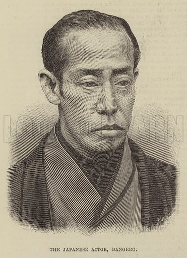 The Japanese Actor, Dangero. Illustration for The Illustrated Sporting and Dramatic News, 3 May 1884.