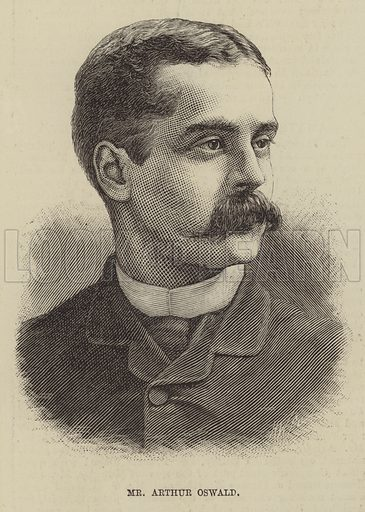 Mr Arthur Oswald. Illustration for The Illustrated Sporting and Dramatic News, 17 May 1884.