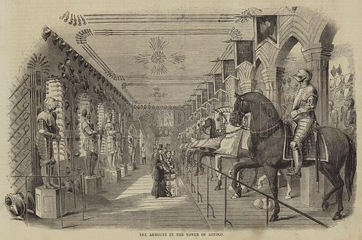 The Armoury in the Tower of London. Illustration for The Illustrated Times, 25 July 1857.