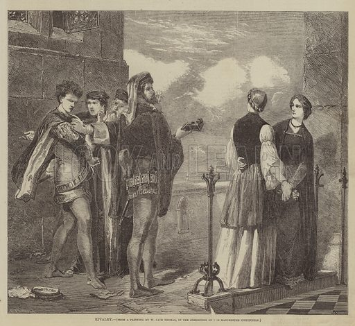 Rivalry. Illustration for The Illustrated Times, 12 September 1857.