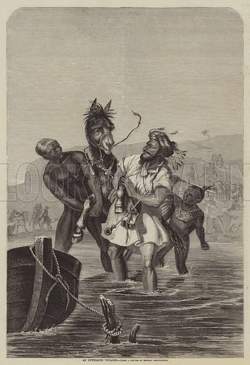 An Unwilling Voyager. Illustration for The Illustrated Times, 10 April 1858.