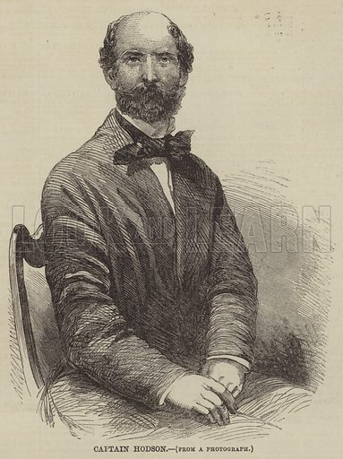 Captain Hodson. Illustration for The Illustrated Times, 1 May 1858.