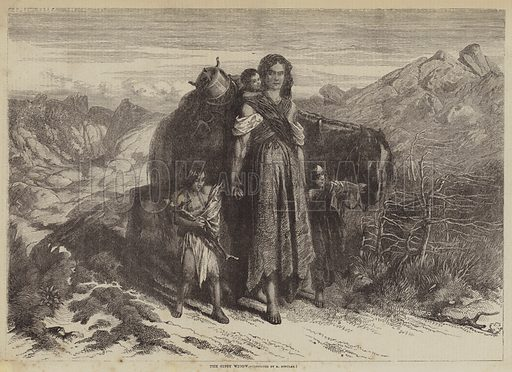 The Gipsy Widow. Illustration for The Illustrated Times, 24 July 1858.