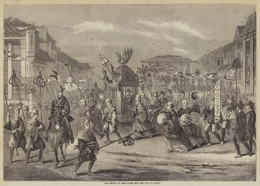 The Entry of Lord Elgin into the City of Jeddo. Illustration for The Illustrated Times, 27 November 1858.