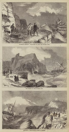 Preventible Causes of Shipwreck. Illustration for The Illustrated Times, 27 November 1858.