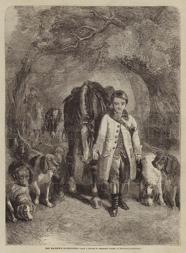 Her Majesty's Buckhounds. Illustration for The Illustrated Times, 8 January 1859.