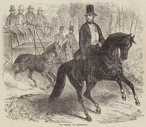 The Premier at Aldershott. Illustration for the Illustrated Times, 26 July 1856.